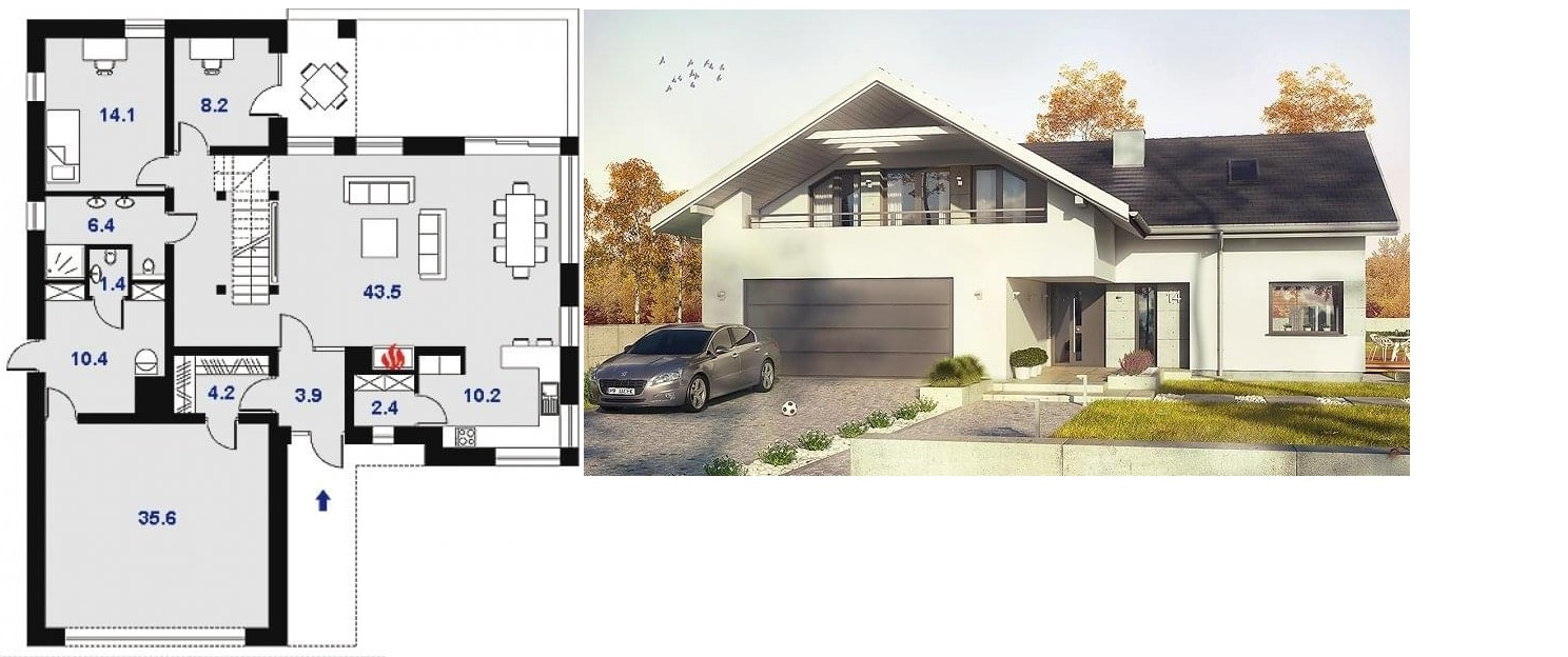 Projekt domu Orlean