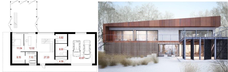 Projekt domu House x07