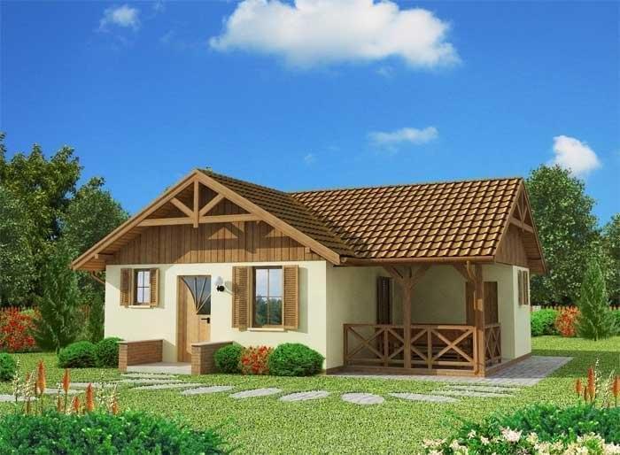 Projekt domu BOGOTA dom letniskowy