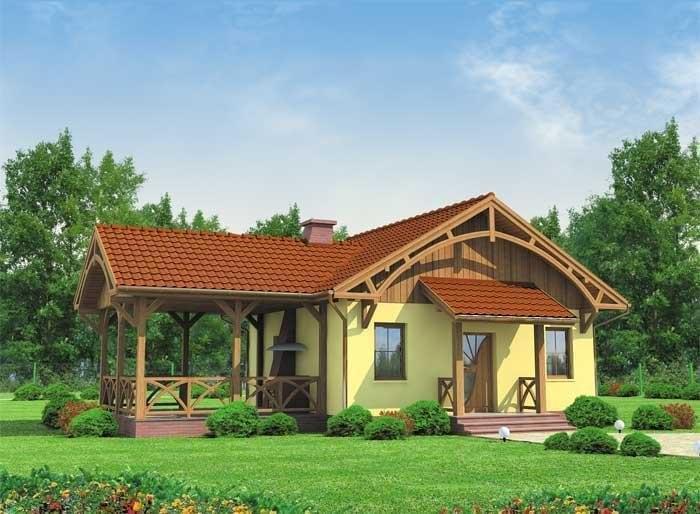Projekt domu LA LORA 2 dom letniskowy