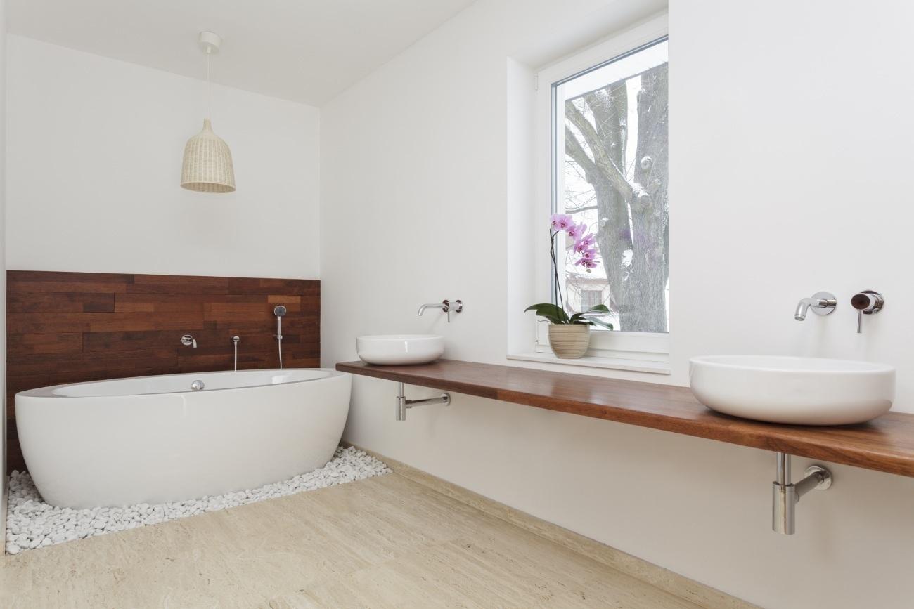 łazienka po remoncie - styl nowoczesny