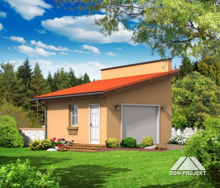 Mój Dom Projekty, projekt garażu, długość ściany 6,20 m, powierzchnia to niecałe 21 m2.